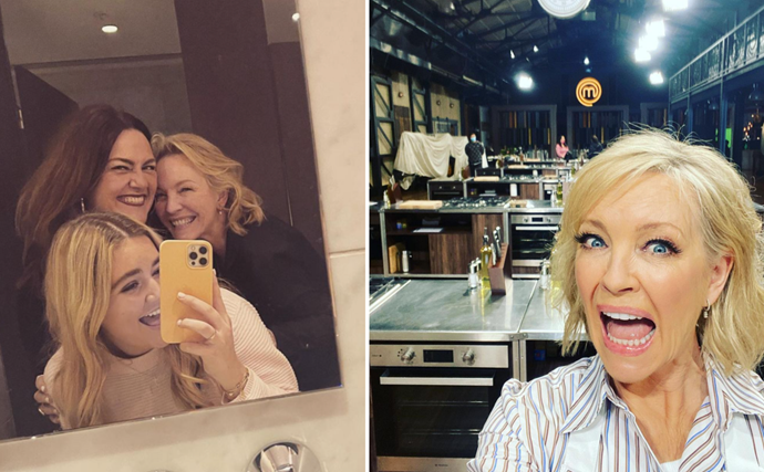 Rebecca Gibney is sharing BTS snaps from Celebrity MasterChef and we sense a celeb girl gang forming
