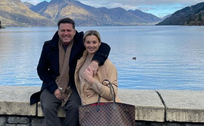 Jasmine and Karl Stefanovic shared a beautiful, quiet moment with their daughter just before Sydney's lockdown began