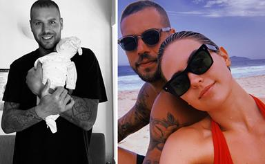 """EXCLUSIVE: ''He's an amazing little sport!"""" Buddy Franklin reveals new son Rocky has been the perfect addition to their family"""