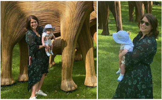 Princess Eugenie shares a rare glimpse of her new baby son August on a day out in London