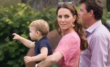 Royals on wheels! Prince Louis and Duchess Catherine have been spotted on a sweet mother-son outing