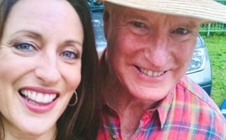 Home and Away's Georgie Parker shares a gritty and dishevelled throwback with Ray Meagher