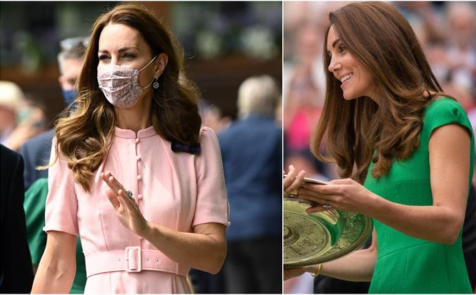 From green to pink: Duchess Catherine's weekend at Wimbledon included two stylish outfits in our favourite colours