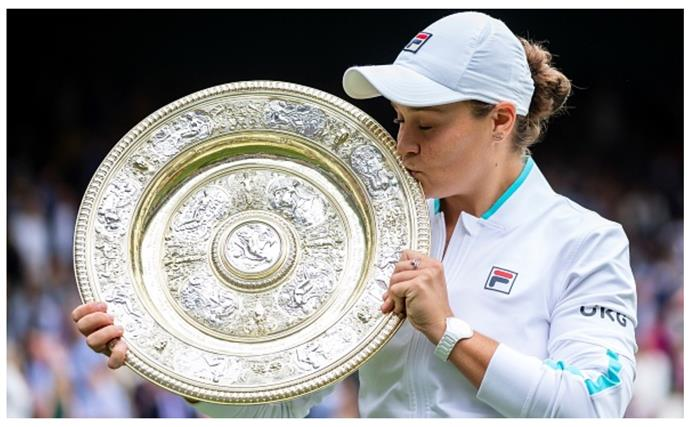 She's scooped her first Wimbledon title, but for Ash Barty family and humility are still what matters most