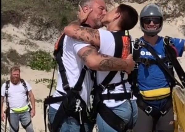 REAL LIFE: Meet the couple who jumped out of a plane on their wedding day