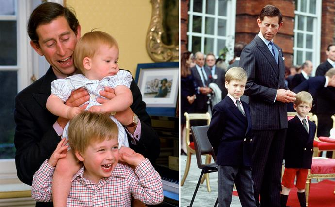 Like father, like sons: Prince Charles' best moments from the royal archives with Princes William and Harry
