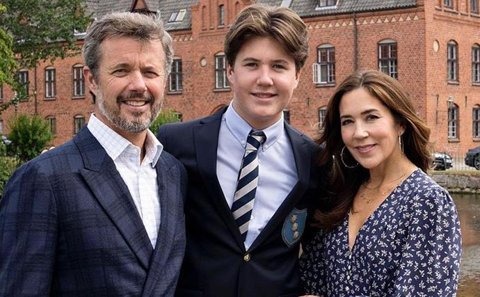 Princess Mary and Prince Frederik beam as their son Prince Christian heads off to boarding school in new portraits