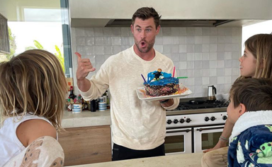Chris Hemsworth's kids just created the CUTEST cake to celebrate his 38th birthday
