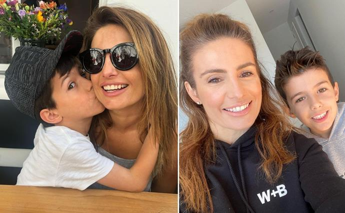 They grow up so fast! Ada Nicodemou lovingly dotes on her son Johnas as they celebrate his big milestone
