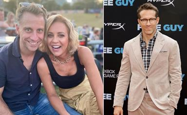 Carrie Bickmore enlists the help of Ryan Reynolds for a hilarious surprise video dedicated to her partner Chris Walker