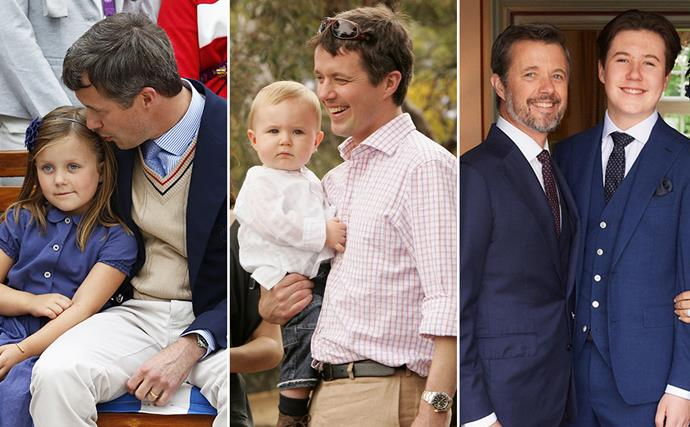 Crown Prince Frederik's best dad moments through the years: from his first moments as a father, to life with four kids
