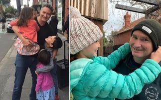 Inside Dave 'Hughesy' Hughes' oh-so-normal family life with wife Holly and their three kids