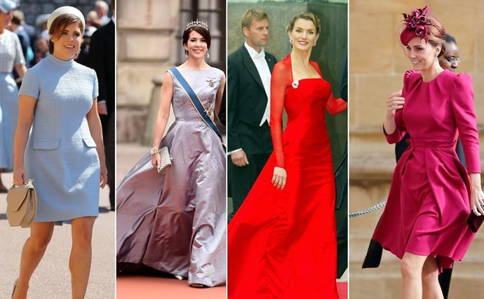 From eccentric hats to Disney princess gowns, here are the most fabulous outfits royals have worn to attend other royal weddings