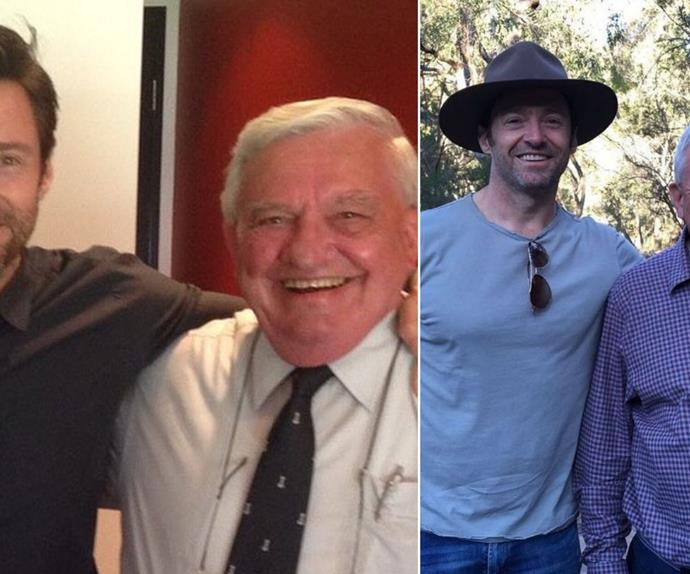 A grieving Hugh Jackman shares a touching toast dedicated to his late father, Christopher