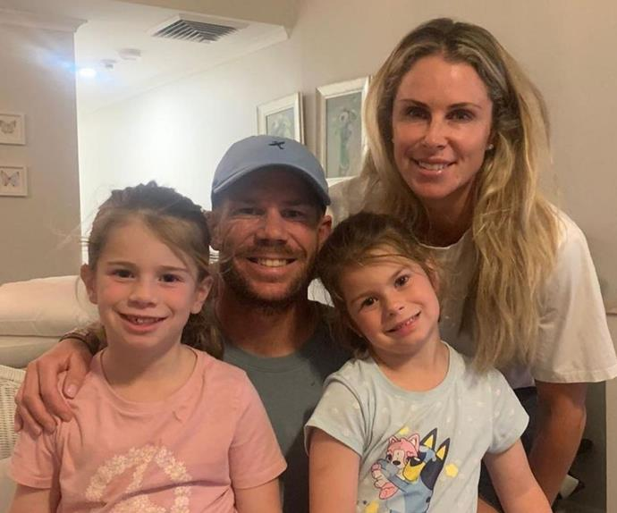 David Warner bids his family an emotional farewell as he is forced to separate from them again