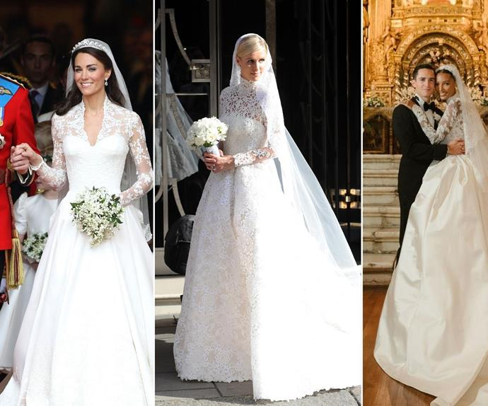 Every breathtaking time celebrites have channelled Grace Kelly's iconic wedding look for their own nuptials