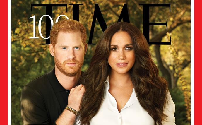 Prince Harry and Duchess Meghan front the cover of TIME Magazine's most influental issue
