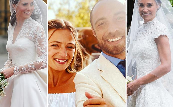 From Catherine's royal marriage, to Pippa's countryside nuptials and James' French affair, the Middletons know how to throw a good wedding