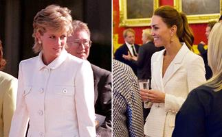 Duchess Catherine channels Princess Diana at her latest royal outing in an all-white ensemble with a modern twist