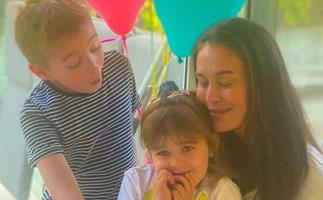 Unicorns and rainbows galore: Megan Gale shares intimate family photos as her daughter Rosie turns four