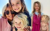 Carrie Bickmore's daughters Evie and Adelaide just raided her makeup bag and the results are hilarious