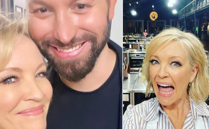 It's almost here! Rebecca Gibney has shared some adorable Celebrity MasterChef behind-the-scenes moments