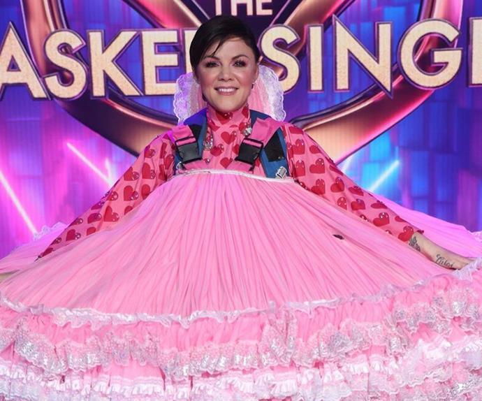 """EXCLUSIVE: The Masked Singer runner up Em Rusciano owns up to being a total """"pest"""" on set"""