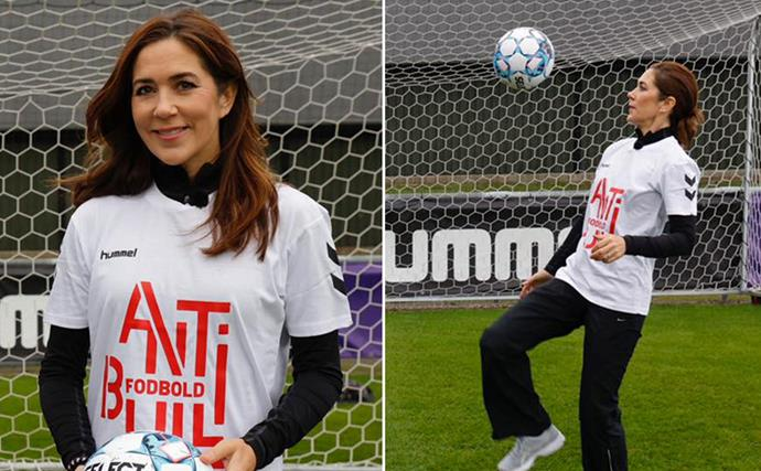 Crown Princess Mary's sporty chic outfit for a special anti-bullying project close to her heart