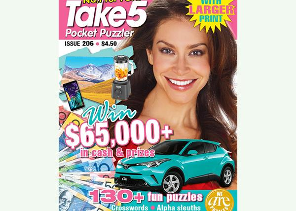 Take 5 Pocket Puzzler Issue 206 Online Entry Coupon