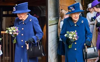 Concerns for the Queen as she steps out with a walking stick for the first time in 18 years