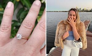 The sweet details in Bachelor in Paradise's Alisha Aitken-Radburn's engagement ring