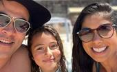 Home and Away's James Stewart shares rare family snaps with his wife Sarah Roberts and his mini-me daughter Scout