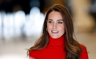 """Duchess Catherine is radiant in red as she takes a bold stance on drug addiction: """"It can happen to any one of us"""""""