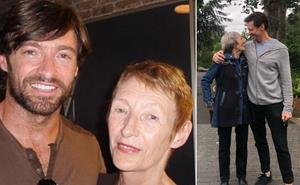 Hugh Jackman shares a tender throwback his formerly estranged mother sent him from the family archives