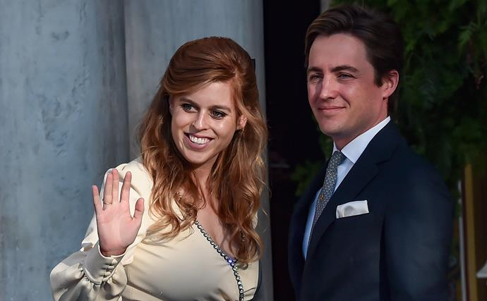 Princess Beatrice makes a glamorous appearance after welcoming baby Sienna with husband Edoardo Mapelli Mozzi
