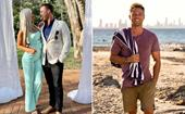 Former Home and Away star Lincoln Lewis is spoiled by his girlfriend as he celebrates his 34th birthday