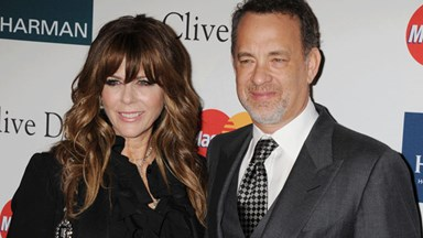 Tom Hanks and Rita Wilson caught on kissing cam