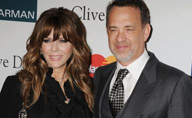 Tom Hanks and Rita Wilson caught on kissing cam