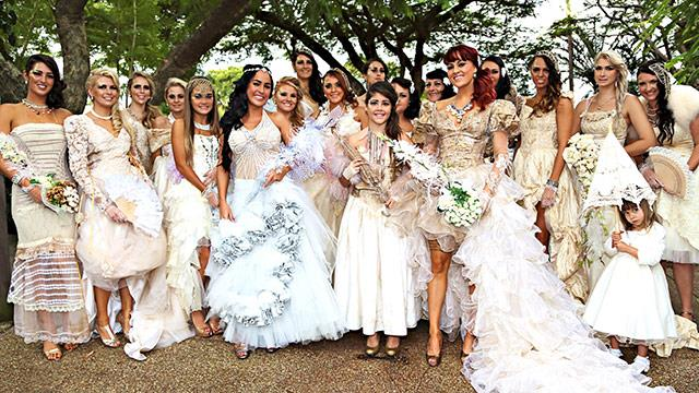 One bride, 21 wedding dresses!