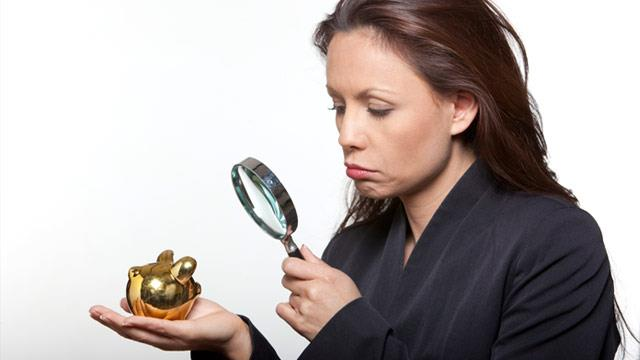 A woman with small savings