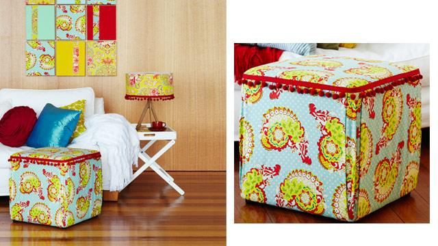 No sew make-overs: How to spruce up an ottoman