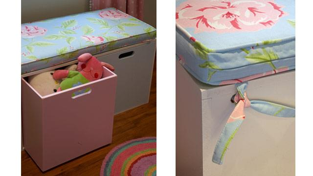 Do-it-yourself: Toy chest cushion