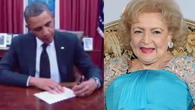 Obama jokes: Betty White isn't 90-years-old