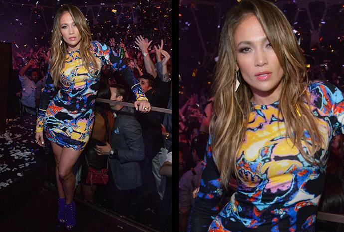 Jennifer Lopez parties in Las Vegas.