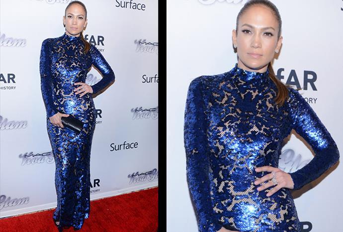 The singer's sleek look in New York.