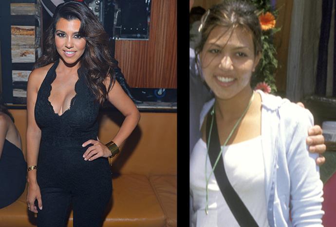 """They don't feel like part of my body."" Kourtney Kardashian says of her breast implants."