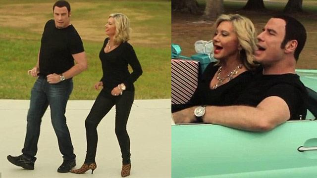Watch John Travolta and Olivia Newton John in new music video