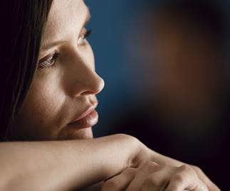 Woman worried about her alcoholic husband