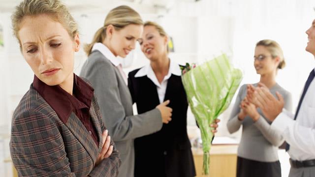 Woman jealous of colleague