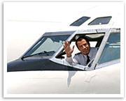 John Travolta's mid-air scare